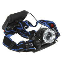 Wholesale Ultra bright LM CREE XM L XML T6 LED Headlamp Headlight Zoomable Zoom Adjustable head lamp H9022