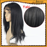 100% Indian Remy Hair full Lace wig, #1B Off Black Yaki Stra...