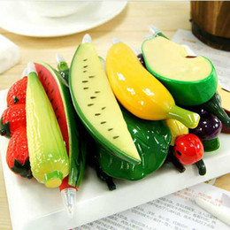 Wholesale Novelty Back to School Mix Vegetable amp Fruit Simulation Ballpoint Pen with magnet