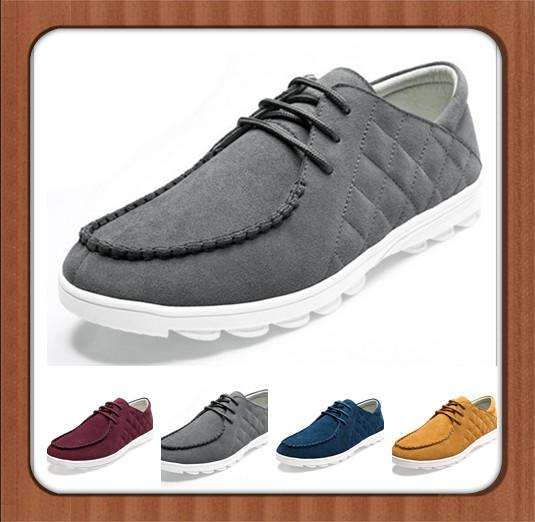 Cheap Men Casual Canvas Shoes Lace Up Cowskin Leather Shoes Most ...