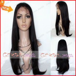 Wholesale Soft Indian Virgin Swiss Full Lace Wig inch Yaki Straight Best Women Lace Wigs Tangle free