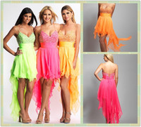 Wholesale 2013 Sassy Short Prom Dresses Spaghetti Straps Handkerchief Dress Homecoming Dresses Beautiful Prom
