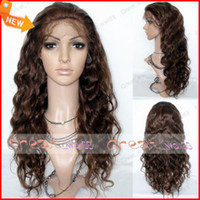 Wholesale Soft Indian Virgin Swiss Full Lace Wig inch Mix Colour Best Women Lace Wigs Tangle free