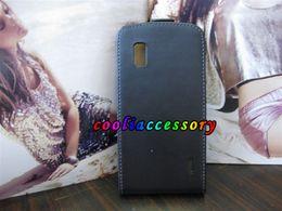 Wholesale Flip genuine Leather case for Google nexus LG E960 pouch real skins plain ardium clip cases