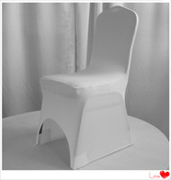 Wholesale White spandex chaior cover Lycra chair cover wedding chair cover200 gsm