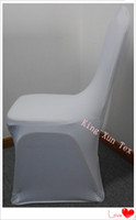 Wholesale White Spandex lycra chair cover High quality Wedding chair cover gsm