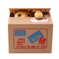 money piggy bank - cat steal coin piggy bank saving money box money bank kids gift novelty toys