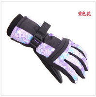 Wholesale Winter Gloves Ladies outdoor windproof warm snow ski gloves riding car battery warm gloves