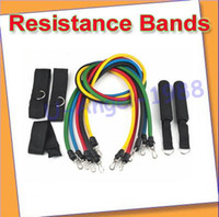 Wholesale 11PC Resistance Bands Set For Yoga Abs Pilates Fitness Exercise Workout Training