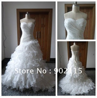 Wholesale 50 OFF IN STOCK Sweetheart Ball Gown Designer Wedding Dress