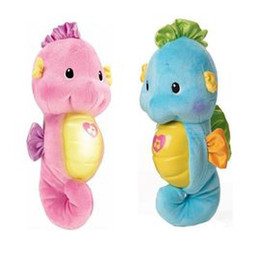 Wholesale Night light Toys Sleeping Toys Fisher Price Ocean Wonders Soothe and Glow Seahorse Baby ReassureToy