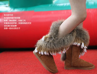 Half Boots boots ladies boots - Womens Winter Boots Warm Boots Man Made Material with Fur Decor Fancy Lovely Ladies Shoe Chestnut