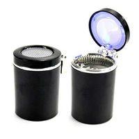 Wholesale New arrival Portable Auto Car Smokeless LED Light Cigarette Ashtray Holder Cup