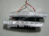 other   10 set per lot ! 8 Led Daytime Running Lights DRL Driving Head Lamp car Day time driving lamps auto