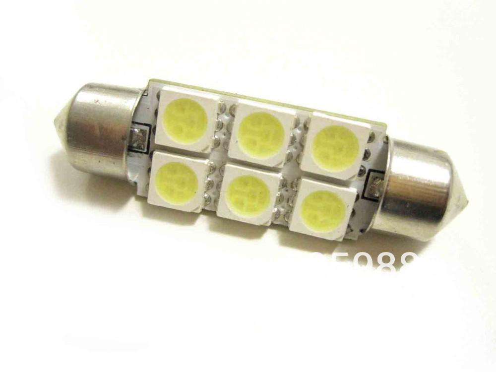 10 pièces 36mm (31mm 39mm 41mm) Voiture Festoon 6 SMD LED véhicule Dome Map Ampo