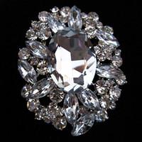 Wholesale 2 Large Size Stunning Clear Rhinestone Crystal and Bridal Wedding Brooch