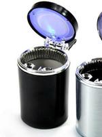 Wholesale Portable Car Auto Use LED Light Cigarette Smokeless Ashtray Holder