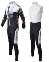 Wholesale 2010 Cinelli long sleeve bike jersey bib pants set customize bicycle cycling wear size XS XXXXL