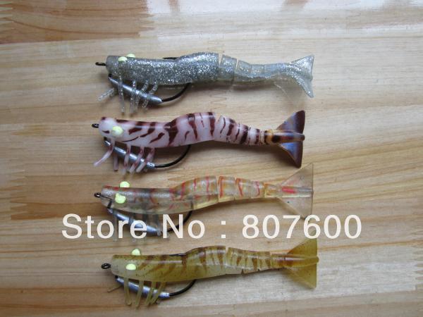 zerek saltwater lure soft plastic lure bait live shrimp 127mm 15.5, Soft Baits