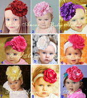 Headbands Lace Floral Hot Sale Baby Hairband big flower headbands baby hairband girls' headband hair clip baby gift S03