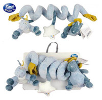 Cloth 0-12 Months Christmas Noukies(Belgium Brand) infant baby toy plush cloth rattle for hanging bed bell