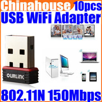 Wholesale Newest Mini Mbps USB WiFi Wireless N LAN Network Adapter Soft AP Support HDTV
