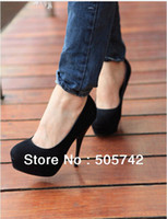 Wholesale Sexy High Heels Platform Pumps Basic Suede Heels Shoes Four Colors