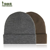 Wholesale 2PCS Brand Free Soldier zybmz Men Wowem Winter Hat Color Gray Brown
