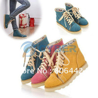 Wholesale Fashion Sexy Ladies PU Leather Ankle Boots Winter Lace Up Flat Boots For Women
