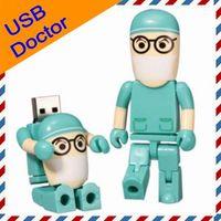 4GB 8GB 16GB Real Capacity Cartoon USB Drive in Green Doctor...