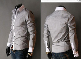 Wholesale New Fashion Style Mens Luxury Casual Slim Fit Stylish Dress Shirts Long Sleeve CZJ826F