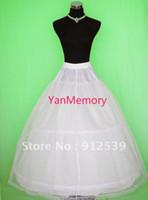 Wholesale White Net Tulle Full Length Hoop Layer Petticoat Crinoline Underskirt Slip