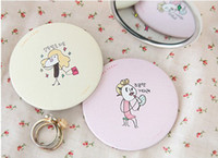 Wholesale Sweet Cute Small Mirror Make up Mirror Portable Compact Mirrors