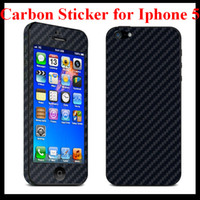 Wholesale New Arrival Carbon Fiber Vinyl Full Body Sticker Stickers Skin Protector Guard for Apple Iphone G