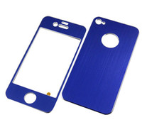 Wholesale sticker For iphone S G Sticker Skin Metal Full Body Protector Cover Aluminum colors