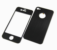Wholesale sticker For iphone S G Sticker Skin Metal Full Body Protector Cover Aluminum drawbench