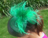 Wholesale Fashion FASCINATOR dances races weddings Party HAT costume fashion fascinator Green h121