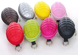 Wholesale Newest Creative grenade Stylish key case coinp purse bag Multi grenade Wallets Purse sport waist bag Pouch colorful xmas gifts