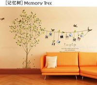Wholesale New diy Design Home Wall Sticker memory tree with Photo Frame Decoration house Wall Paster Poster W004