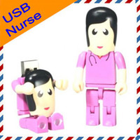 4GB 8GB 16GB Real Capacity Cartoon USB Drive in Pink Nurse D...