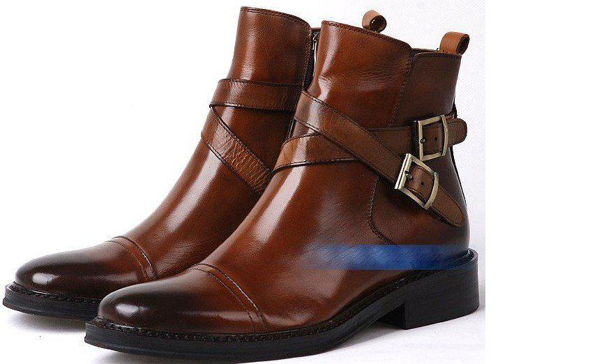 2011 Shoes Men Ankle Boot Real Leather High Shoes New High Heel ...