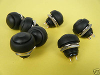 pushbutton Switches  Black Momentary Normal OFF-(ON) Push-Button Switch N O