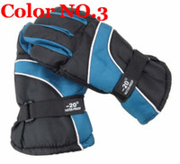 Wholesale Warm Thicken Winter Ski Gloves Wind resistant Riding Gloves Snowboard Motorcycle Gloves D3