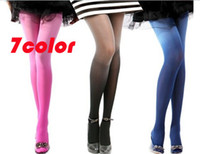 Wholesale Colorful Velvet gradient color Pantyhose Stockings Tights Leggings Stretchy Warm Footed MANY Colors