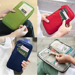 Wholesale Travel Wallet Passport Bag Credit ID Card Cash Purse Ticket Holder Canvas Case