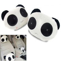 Wholesale 2 X Cute Panda Car Seat Plush Head Rest Cover Travel Cushion Pillow Neck Support