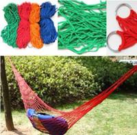 Wholesale door Travel Camping Hammock Garden Portable Nylon Hang Mesh Net Sleeping Bed