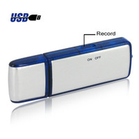 Wholesale New in1 GB Digital Voice Recorder USB Flash Memory Stick Drive super Small hidden spy tool