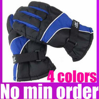 Wholesale Snowboard Motorcycle Gloves Thicken Winter Ski Gloves Wind resistant Riding Gloves D3