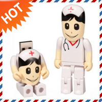 Real 4GB 8Gb 16GB Cartoon USB Drive in White Nurse Design + ...